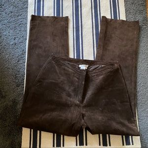 Co & Eddy Genuine Suede Brown Pants Size 6